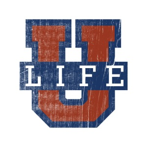 LIFE U Distressed Logo